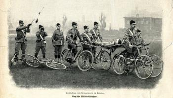Военный велосипед — скорая помощь