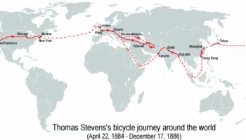Первая велосипедная кругосветка на 13500 миль