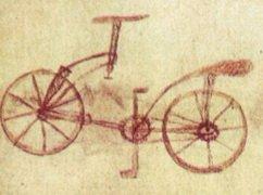 Чертеж велосипеда Леонадро да Винчи
