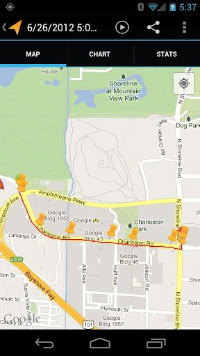 Наложение маршрута на карту Google
