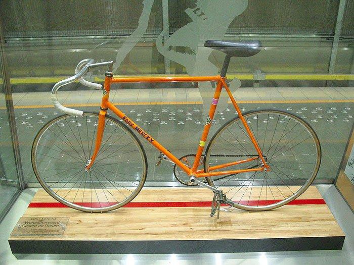 Велосипед, с которым Эдди Меркс установил мировой рекорд.