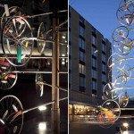 Ёлка из велосипедов в Лондоне
