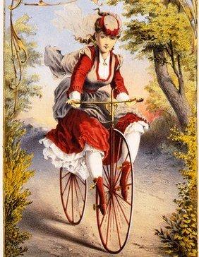 велосипед-женщина