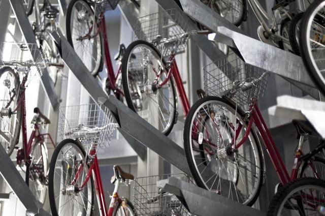 Eco Cycle: подземный паркинг для велосипедов в Японии
