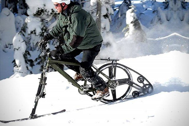 Ktrak: превращаем велосипед в снегоход