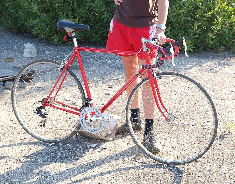 велосипед после перекраски
